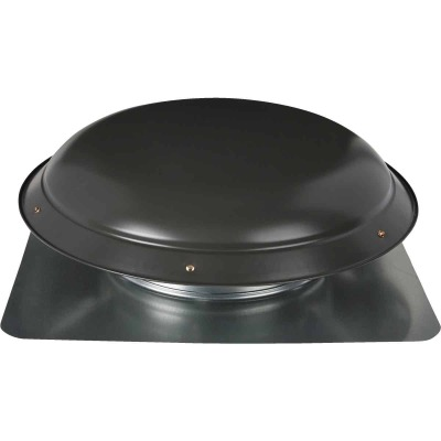 Ventamatic 1080 CFM Galvanized Steel Power Roof Mount Attic Vent Weathered Gray