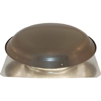 Ventamatic 1400 CFM Galvanized Steel Energy Efficient Power Roof Mount Attic Vent Weathered Gray