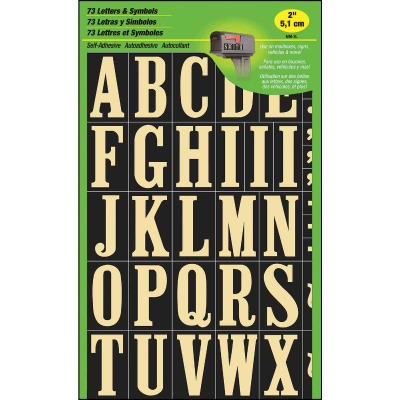 Hy-Ko Self-Adhesive Polyester 2 In. Gold Letter Set