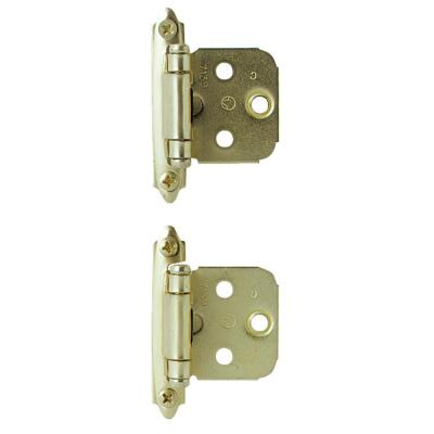 Amerock Polished Brass Self-Closing Face Mount Overlay Hinge (2-Pack)