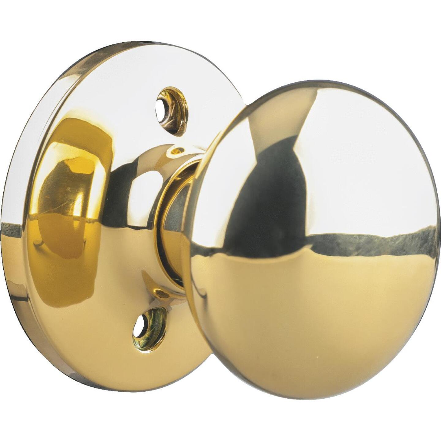 Steel Pro Polished Brass Dummy Door Knob Image 1