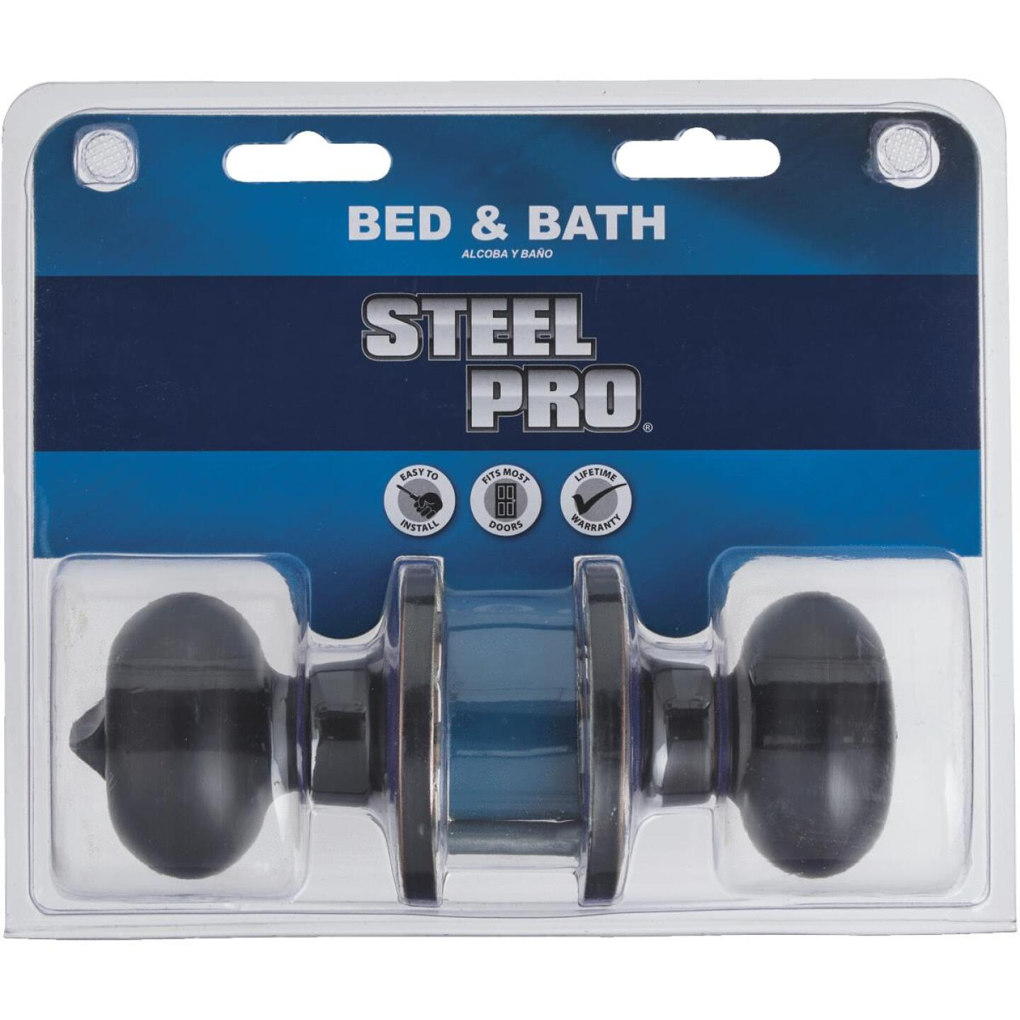 Steel Pro Oil Rubbed Bronze Bed & Bath Door Knob Image 3