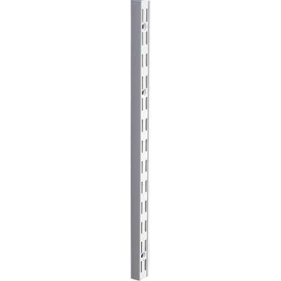 Knape & Vogt 82 Series 16-1/2 In. Titanium Steel Heavy-Duty Double-Slot Shelf Standard