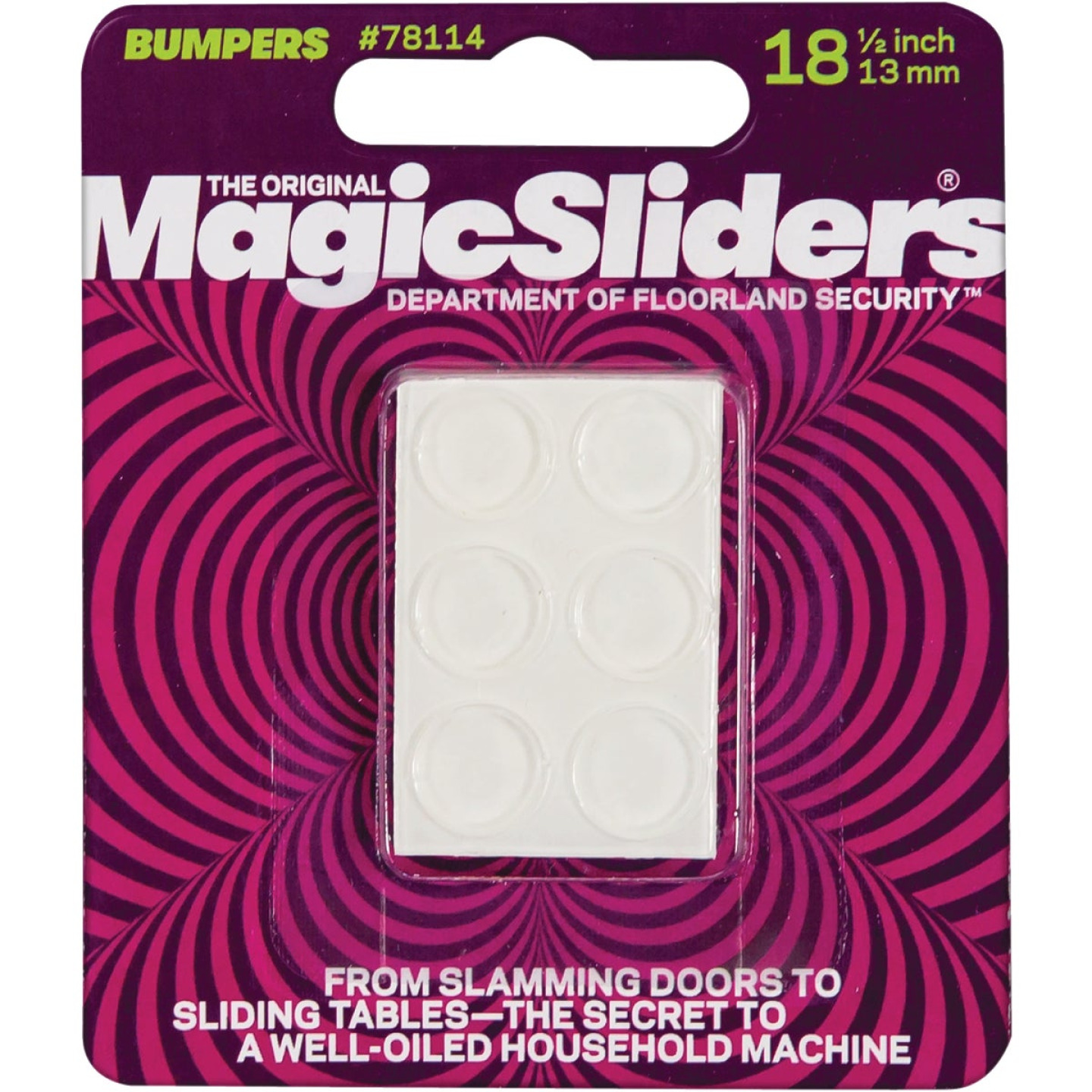 Magic Sliders 1/2 In. Round Clear Furniture Bumpers,(18-Count) Image 2