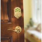 Kwikset Signature Series SmartCode Polished Brass Electronic Deadbolt Image 3