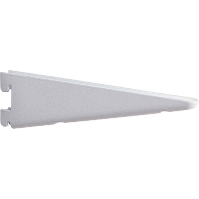 Knape & Vogt 182 Series 18-1/2 In. White Steel Heavy-Duty Double-Slot Shelf Bracket