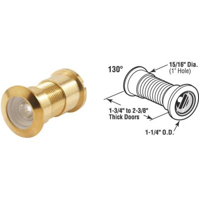Defender Security Solid Brass 1 In. Hole Door Viewer