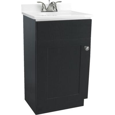Design House Espresso 18 In. W x 31-1/2 In. H x 16 In. D Combo Vanity with Cultured Marble Top