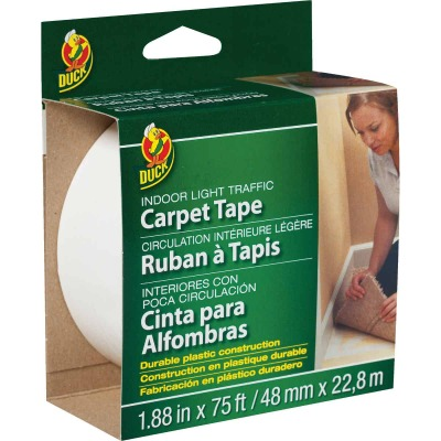 Duck Light Traffic 1.88 In. x 75 Ft. Indoor Double Sided Carpet Tape