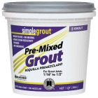 Custom Building Products Simplegrout Quart Earth Pre-Mixed Tile Grout Image 1