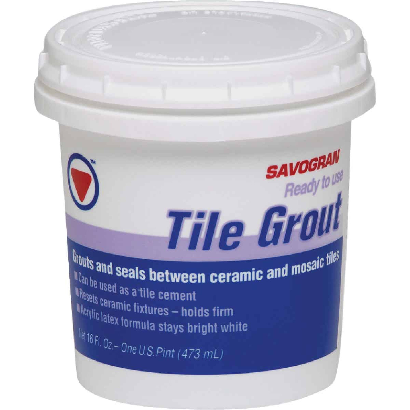 Savogran Pint Bright White Pre-Mixed Tile Grout Image 1
