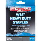 Channellock No. 5 Heavy-Duty Wide Crown Staple, 9/16 In. (1000-Pack) Image 1
