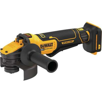 DeWalt 20 Volt MAX Lithium-Ion 4-1/2 In. - 5 In. Brushless Paddle Switch Cordless Angle Grinder w/Flexvolt Advantage (Bare Tool)