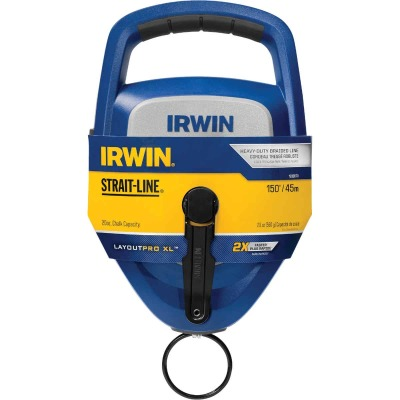 Irwin STRAIT-LINE LayoutPro XL 150 Ft. Chalk Line Reel