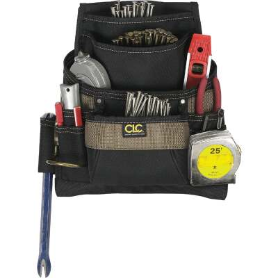 CLC 11-Pocket Polyester Nail & Tool Bag