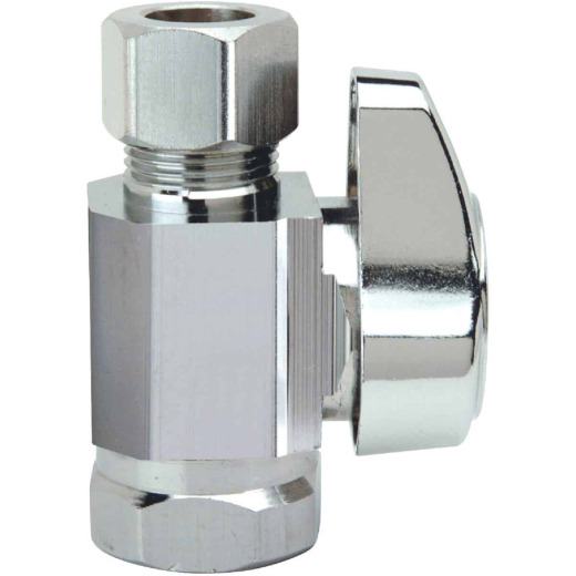 BrassCraft 3/8 In. FIP Inlet x 3/8 In. OD Tube Outlet Brass Straight Valve