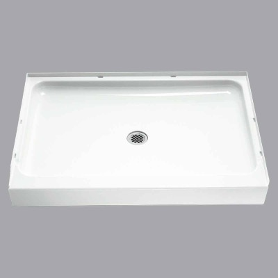 Sterling Ensemble 48 In. W x 34 In. D Center Drain Shower Floor & Base in White