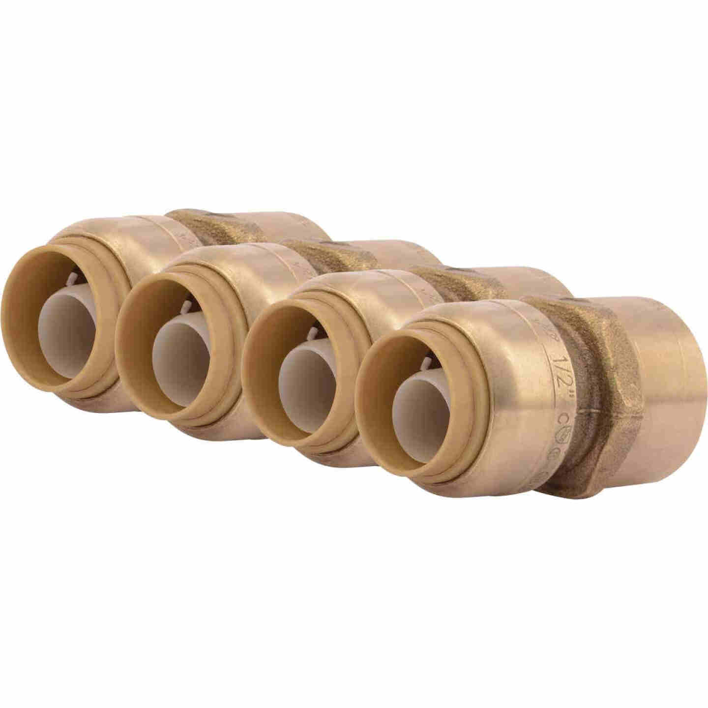 SharkBite 1/2 In. x 1/2 In. FNPT Straight Brass Push-to-Connect Female Adapter (4-Pack) Image 1