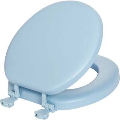 Mayfair by Bemis Round Closed Front Premium Soft Sky Blue Toilet Seat