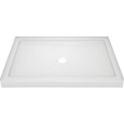 Delta Classic 400 48 In. L x 34 In. D Center Drain Shower Floor & Base in White