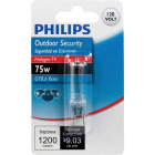 Philips 75W 120V Clear GY8.6 Base T4 Halogen Special Purpose Light Bulb Image 2