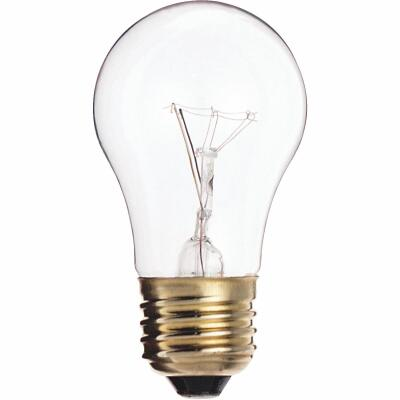 Satco 40W Clear Medium A15 Incandescent Ceiling Fan Light Bulb
