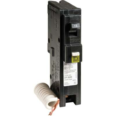 Square D Homeline 15A Single-Pole CAFCI Combination Arc Fault Breaker