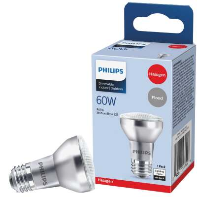 Philips 75W Equivalent Clear Medium Base PAR16 Halogen Floodlight Light Bulb