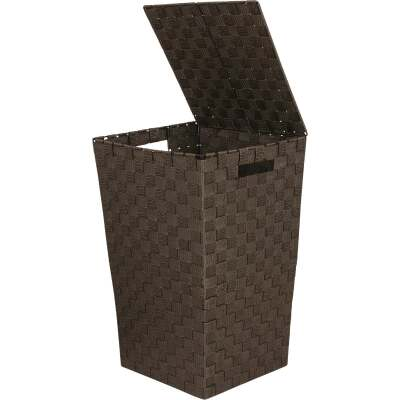 Home Impressions 13 In. x 20.5 In. H. Woven Laundry Hamper, Brown