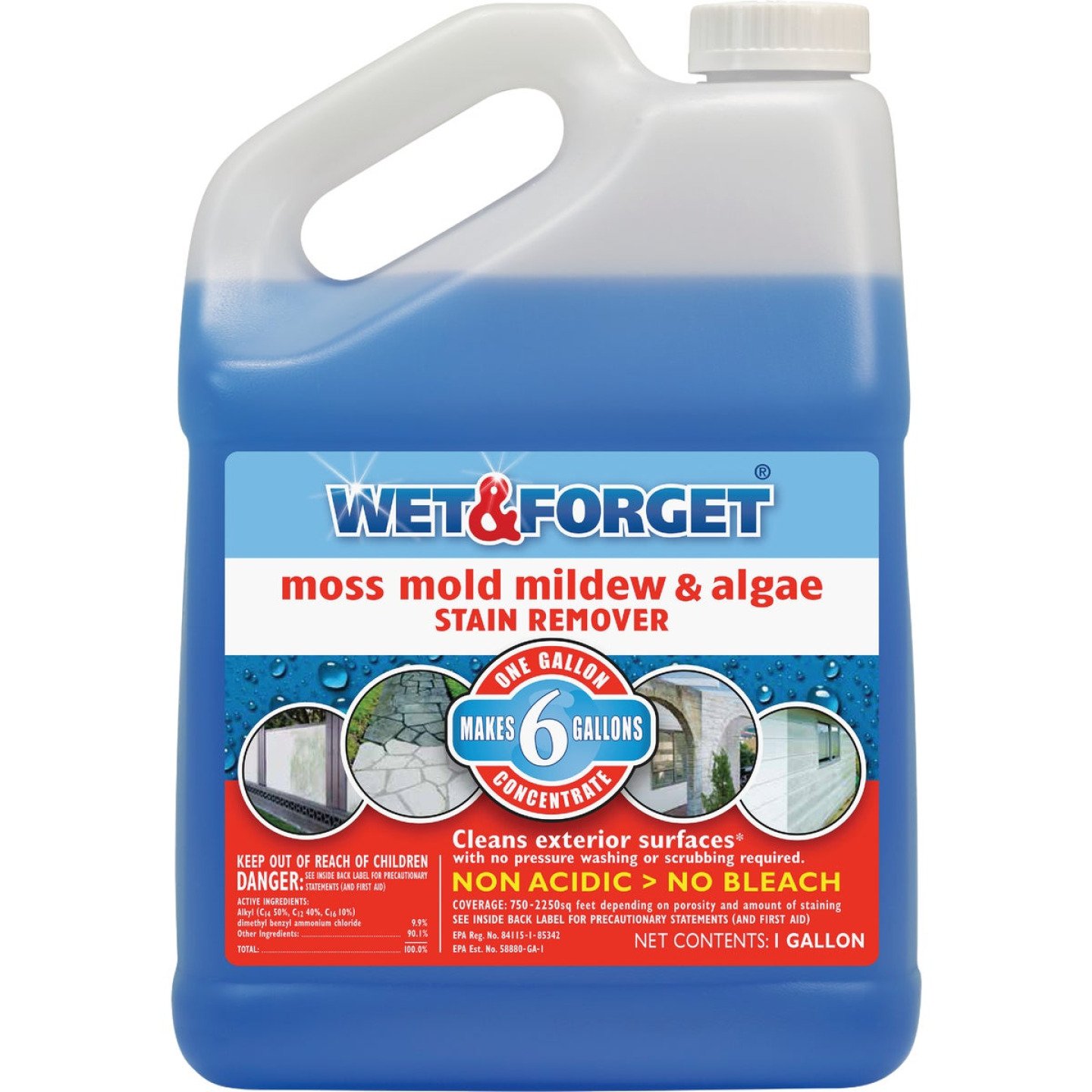 Wet & Forget 1 Gal. Liquid Concentrate Moss, Mold, Mildew, & Algae Stain Remover Image 1