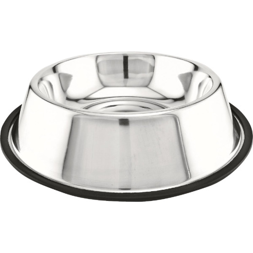 Westminster Pet Ruffin' it Stainless Steel Round 64 Oz. Non-Skid Pet Food Bowl