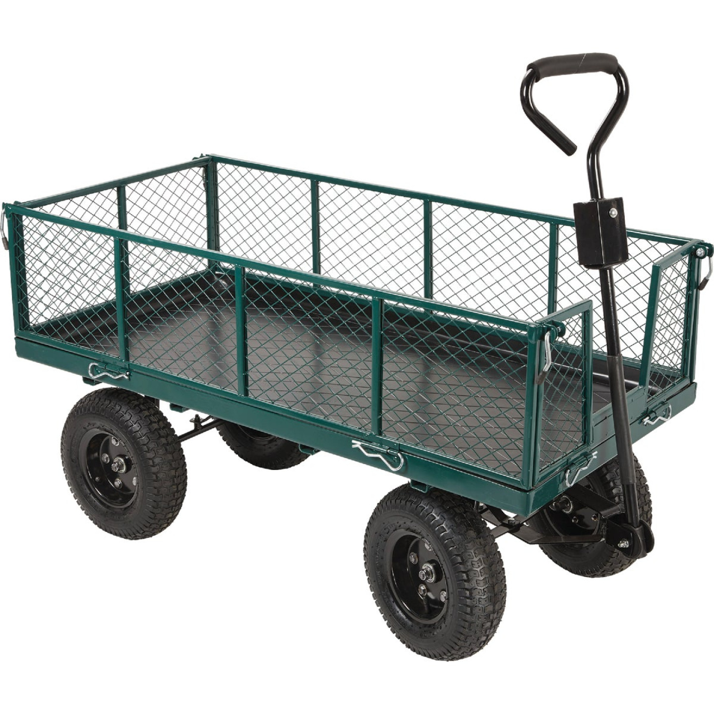 Best Garden 1000 Lb. Steel Garden Cart with Collapsible Sides Image 1