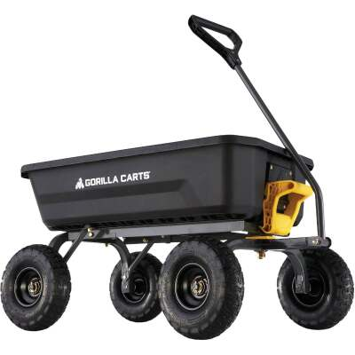 Gorilla Carts 4 Cu. Ft. 600 Lb. Poly Garden Cart