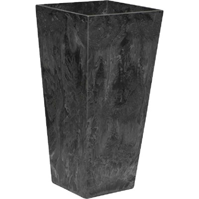 Novelty ArtStone Ella 7 In. W. x 19.5 In. H. x 7 In. L. Black Resin Planter