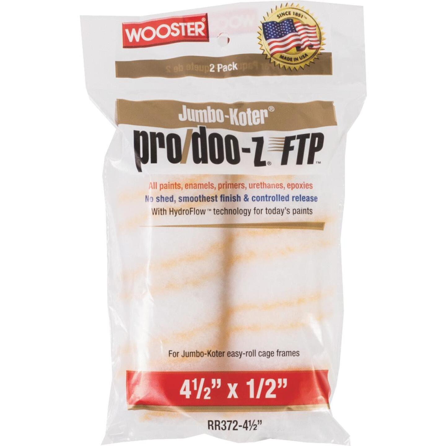 Wooster Jumbo-Koter Pro/Doo-Z FTP 4-1/2 In. x 1/2 In. Mini Woven Fabric Roller Cover (2 Pack) Image 1