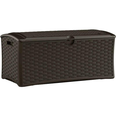 Suncast 72 Gal. Resin Wicker Brown Deck Box