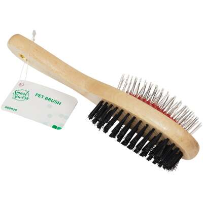 Smart Savers Plastic & Metal Bristle Pet Brush Combo