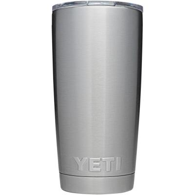 Yeti Rambler 20 Oz. Silver Stainless Steel Insulated Tumbler