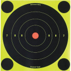 Birchwood Casey Shoot-N-C 8-Inch Sighting Adhesive Paper Bulls-Eye Target Image 1