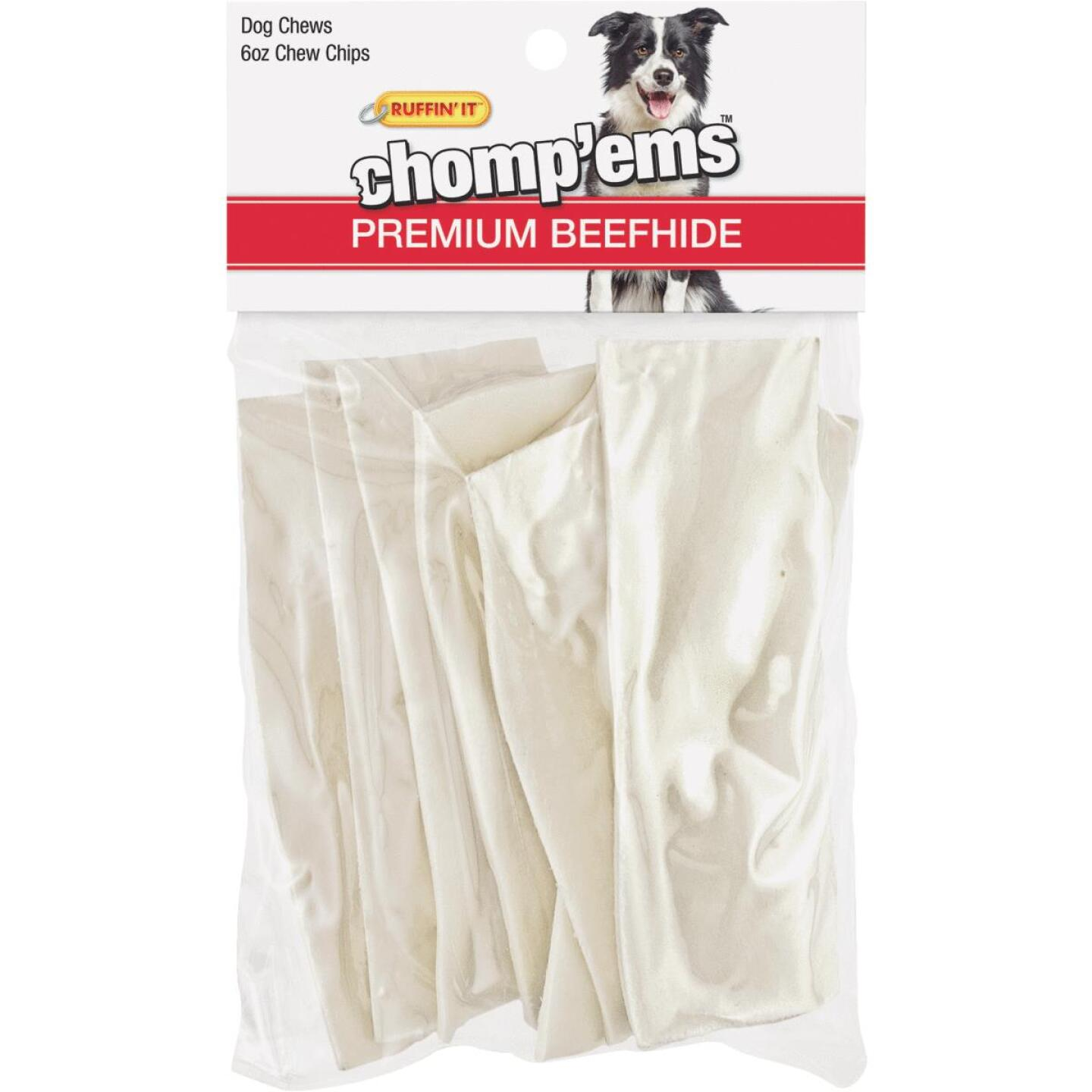 Westminster Pet Ruffin' it Chomp'ems 6 Oz. Rawhide Chips Image 1