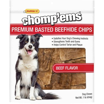 Westminster Pet Ruffin' it Chomp'ems 1 Lb. Beef Rawhide Chips