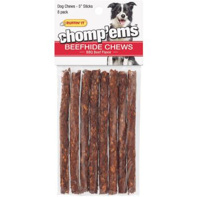 Westminster Pet Ruffin' it Chomp'ems 5 In. BBQ Beef Chew Roll (8-Pack)