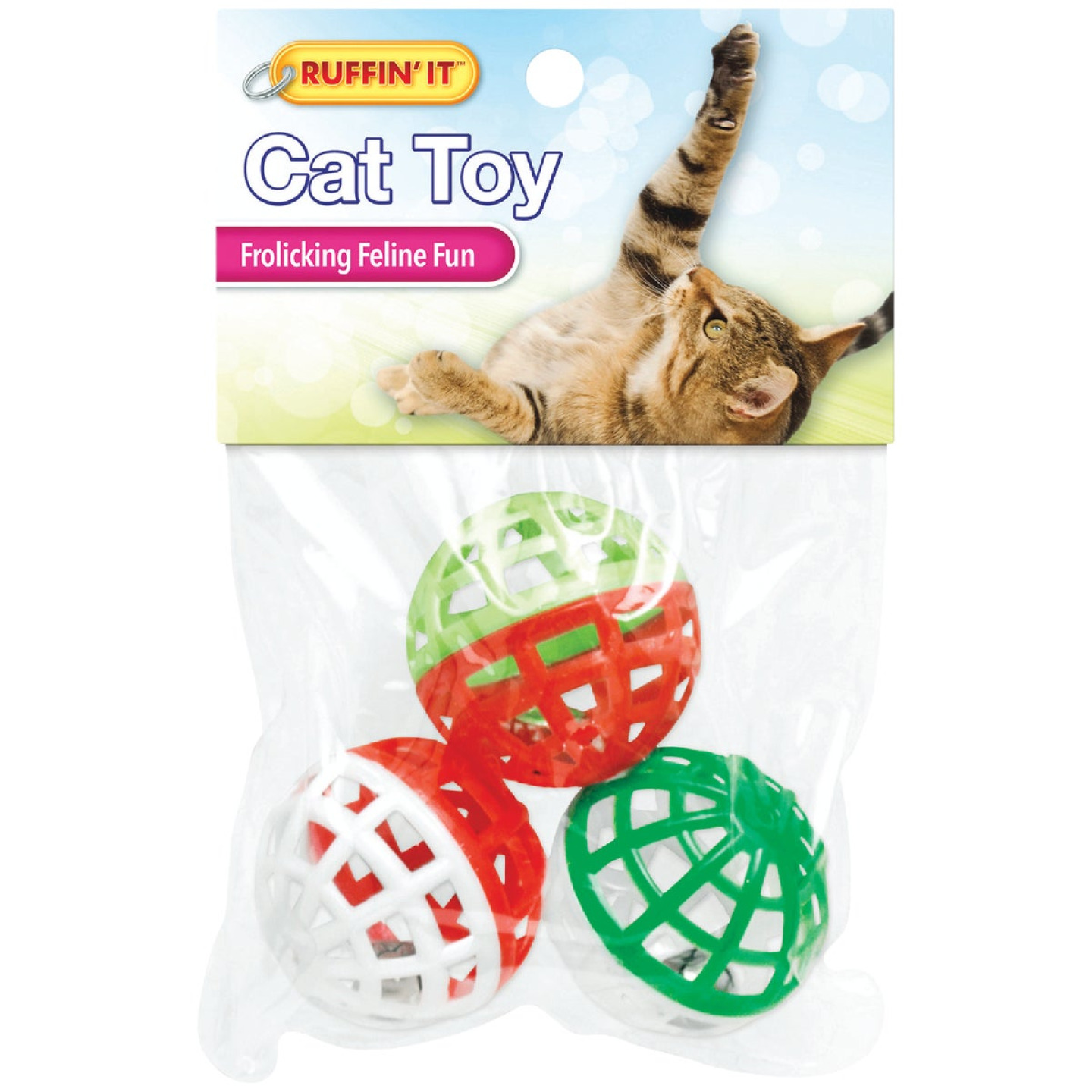 Westminster Pet Ruffin' it Ball Cat Toy (3-Pack) Image 2