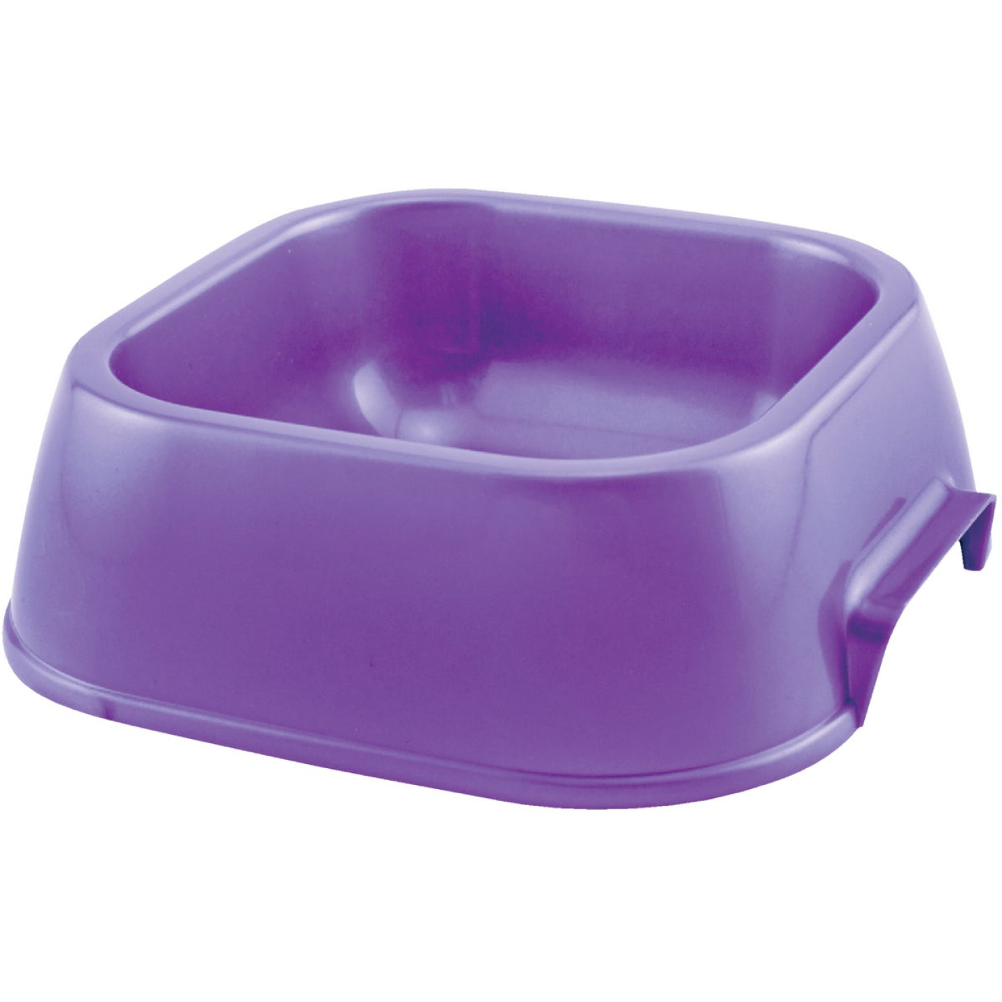 Westminster Pet Ruffin' it Plastic Rounded Square Small Pet Food Bowl Image 1