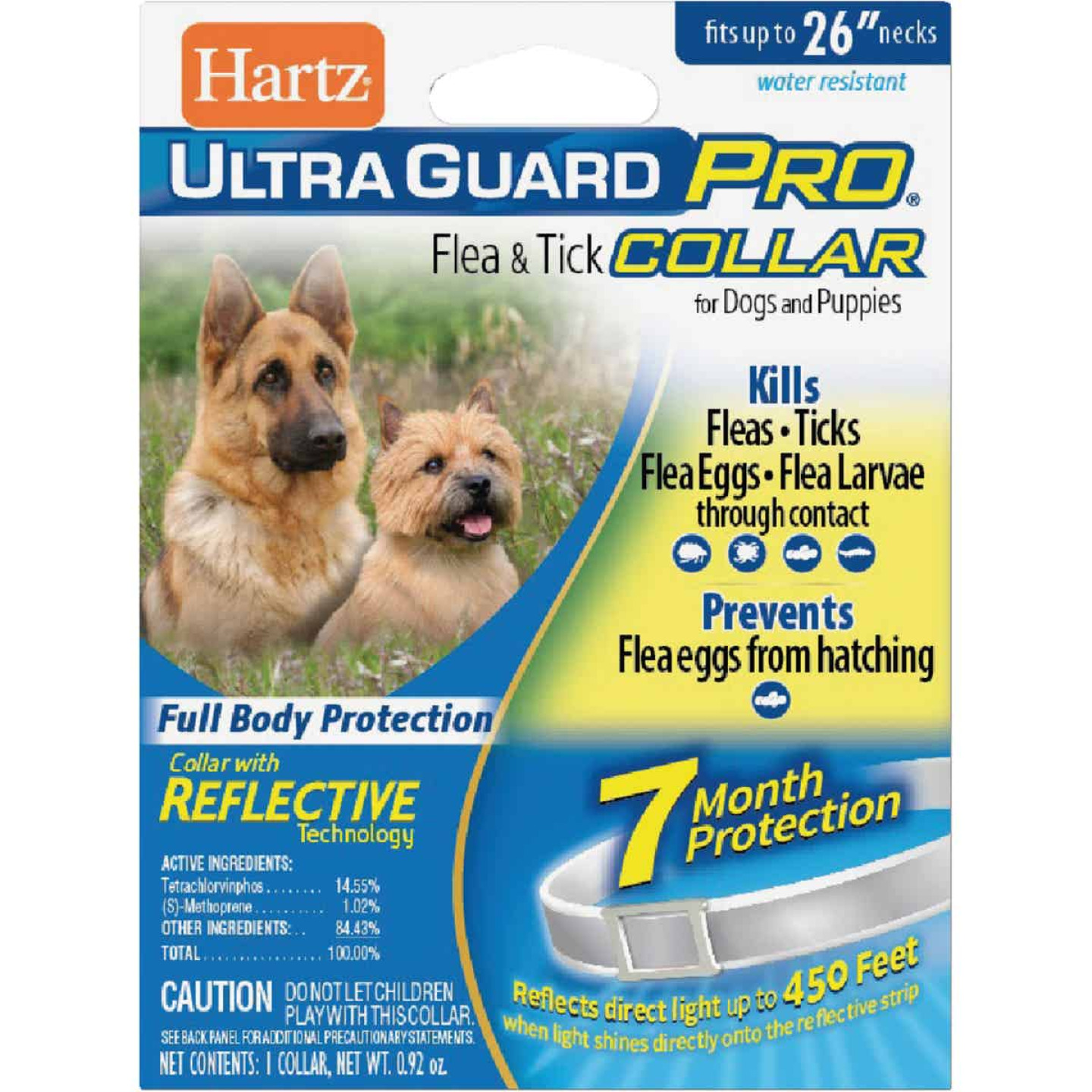 Hartz UltraGuard Pro Flea & Tick Water Resistant Reflective Collar For Dogs & Puppies Image 1