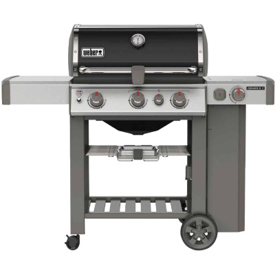 Weber Genesis II SE-330 3-Burner Black 39,000 BTU LP Gas Grill with 12,000 BTU Side -Burner