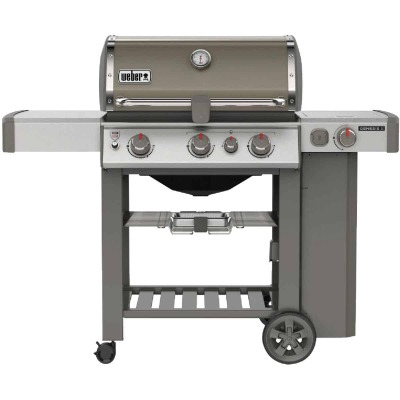 Weber Genesis II SE-330 3-Burner Smoke 39,000 BTU LP Gas Grill with 12,000 BTU Side -Burner