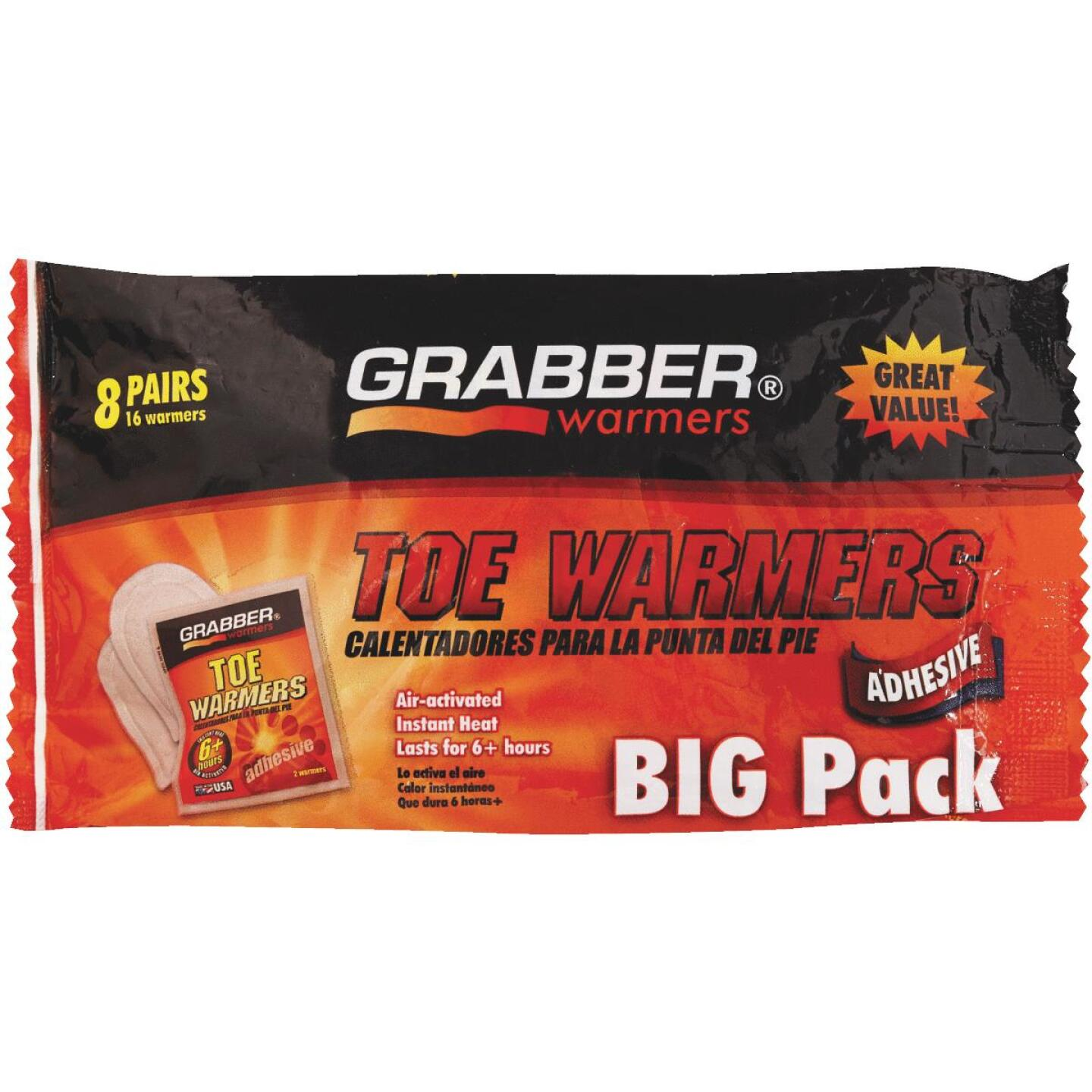 Grabber One Size Fits All Toe Warmer (8-Pack) Image 1