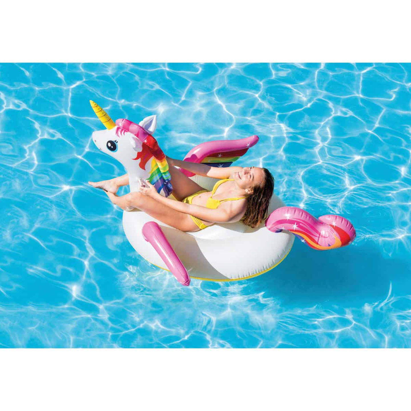 Intex Ride-On Unicorn Pool Float Image 3