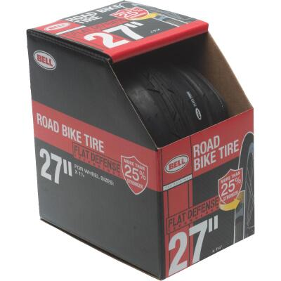 Bell 27 In. Road Bicycle Tire with Flat Defense